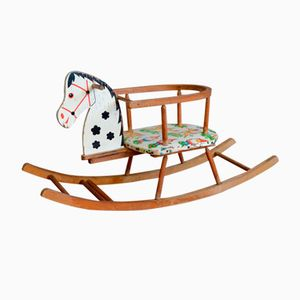 Wooden Rocking Horse, 1950s