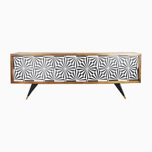 Mid-Century Sideboard mit Op-Art Pattern, 1960er