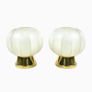 Lámparas de mesa Cocoon Mid-Century, años 60. Juego de 2