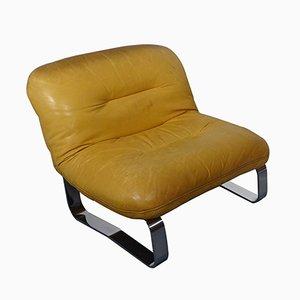 Chaise en Cuir, Italie, 1960s