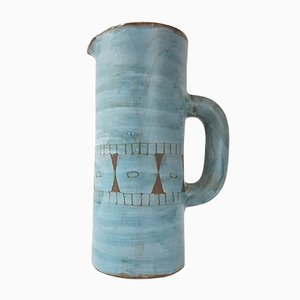 Mid-Century French Ceramic Pitcher by Alain Maunier, 1950s