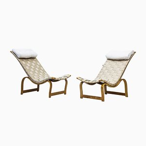 Vilstol Lounge Chairs by Bruno Mathsson for Firma Karl Mathsson, 1930s, Set of 2