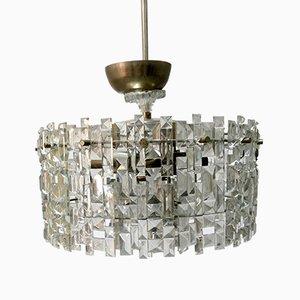 Lámpara de araña de vidrio, años 70