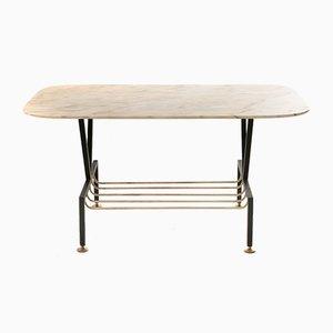 Table Basse avec Plateau en Marbre, 1950s
