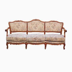 Sofá de tres plazas francés, años 50