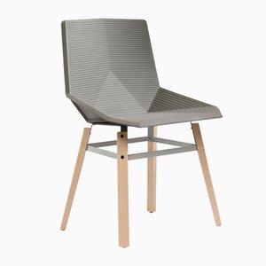 Chaise Beige avec Pieds en Bois par Mobles114