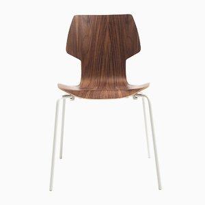 Gràcia Stuhl aus Nussholz mit weißen Beinen von Mobles114