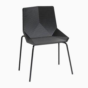 Sedia da giardino Cadria nera con gambe in acciaio di Mobles114