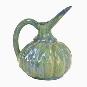 French Iridescent Ceramic Jug by Alphonse Cytere, 1910