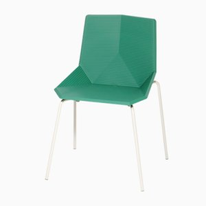 Green Garden Chair with Steel Legs by Mobles114