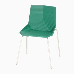 Sedia da giardino verde con gambe in acciaio di Mobles114