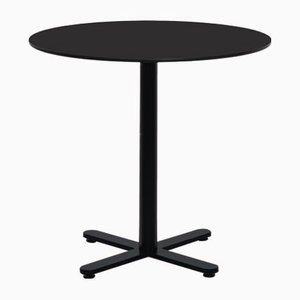 Round Black HPL Oxi Table by Mobles114
