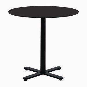 Table Ronde Oxi Noire en HPL par Mobles114