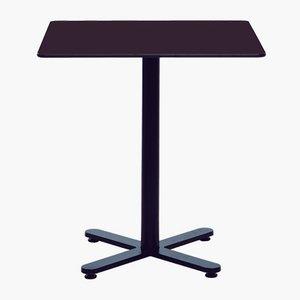 Viereckiger Oxi Tisch in Schwarz mit HPL Platte von Mobles114