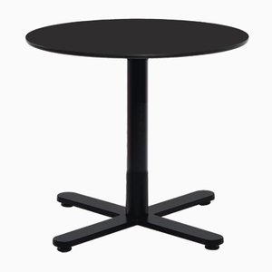 Kleiner runder Oxi Tisch in Schwarz mit HPL Platte von Mobles114