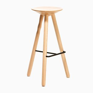 Large Beech Wood Luco Stool by Mobles114