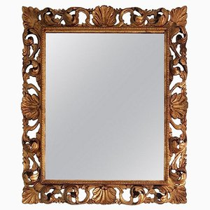 Vintage Italian Hand Carved Gilt Mirror