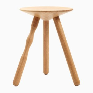Small Beech Wood Luco Stool by Mobles114