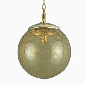 Vintage Czech Bubble Glass Pendant Light