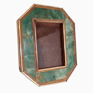 Vintage Italian Photo Frame in Tessellated Stone