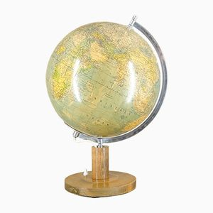 Illuminated Glass Globe by Paul Räth for Hermann Haack, 1950s