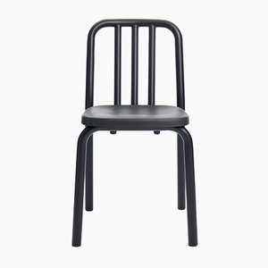Black Aluminum Tube Chair by Mobles114