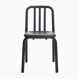 Chaise Tube en Aluminium Noir par Mobles114