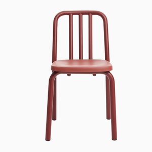 Chestnut Brown Aluminum Tube Chair by Mobles114
