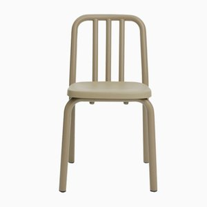 Olive Grey Aluminum Tube Chair by Mobles114