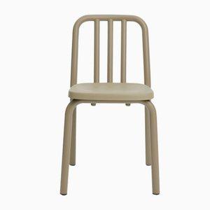Olivgrauer Tube Stuhl aus Aluminium von Mobles114