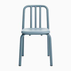 Blue Grey Aluminum Tube Chair by Mobles114