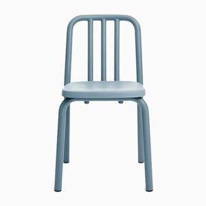 Sedia Tube in alluminio grigio-blu di Mobles114