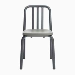 Grey Anthracite Aluminum Tube Chair by Mobles114