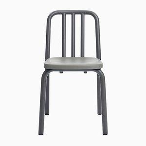 Sedia Tube in alluminio grigio antracite di Mobles114