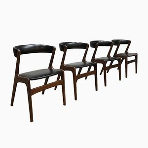 Danish Dining Chairs by Th. Harlev for Fastrup Mobler, 1950s, Set of 4