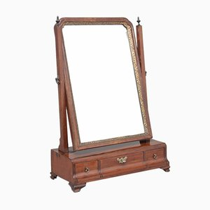 19th-Century Mahogany Dressing Table Mirror