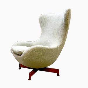 Vintage Wingback Egg Chair, 1950s