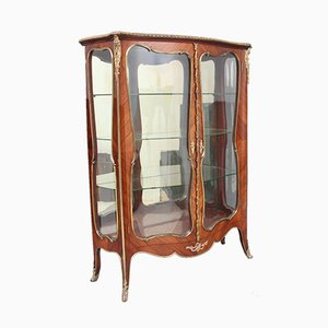 19th-Century French Kingwood and Ormolu Display Cabinet