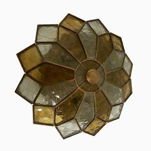Lampada ad incasso in vetro colorato, anni '50