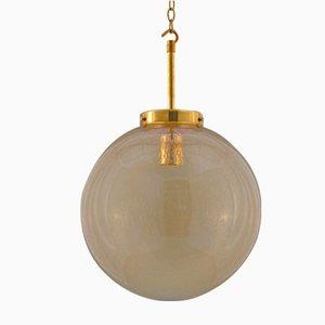 Lámpara colgante checa esférica de cristal burbuja, años 70