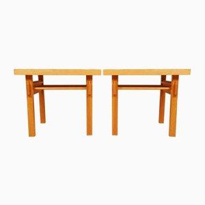 Tables de Chevet par Ilmari Tapiovaara pour Asko, 1950s, Set de 2