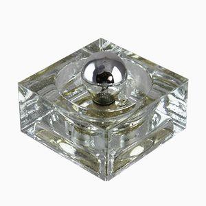 Lámparas de pared con forma de cubo de hielo de Müller & Zimmer, años 70. Juego de 2