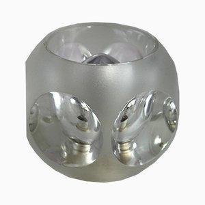 Lámpara de escritorio cúbica de Peill & Putzler, años 70