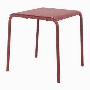 Table Carrée Tube Marron Noisette par Mobles114
