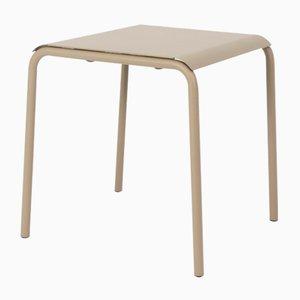 Table Carrée Tube Gris Olive par Mobles114