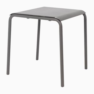 Grey Anthracite Tube Square Table by Mobles114