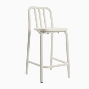 White Tube Tambouret Stool by Mobles114