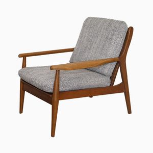 Vintage Scandinavian Oak Armchair