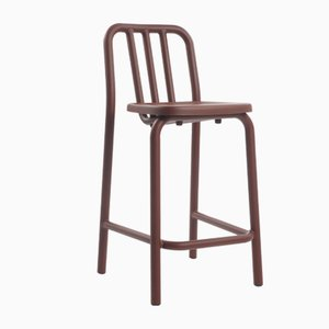 Chestnut Brown Tube Tambouret Stool by Mobles114