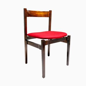 Mid-Century Rosewood Dining Chairs by Gianfranco Frattini for Cassina, Set of 4